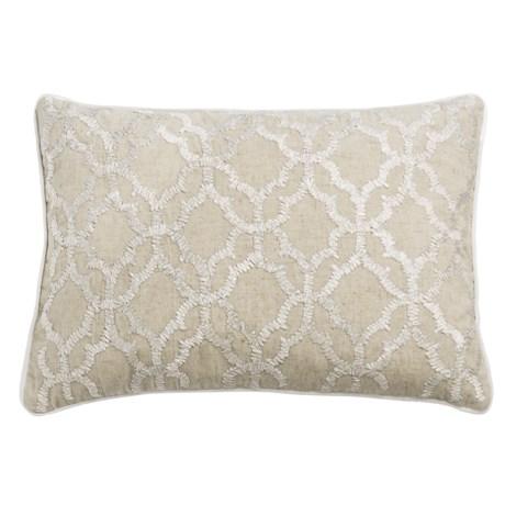 """Devi Designs Raffia Decor Pillow - 14x20"""" in Natural"""