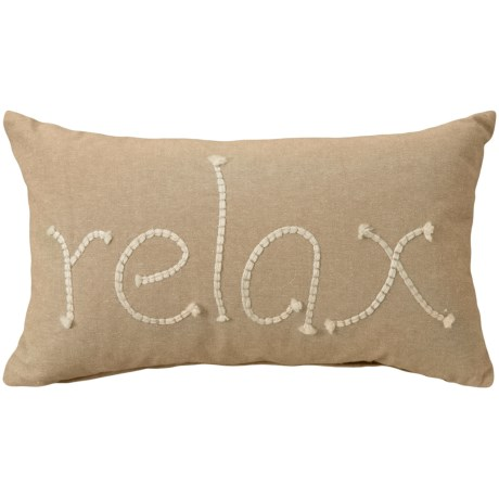"Devi Designs Relax Throw Pillow - 14x20"", Feathers in Natural"