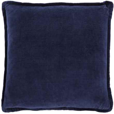 """Devi Designs Solid Velvet Pillow - 20x20"""", Feathers in Insignia - Closeouts"""
