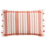 "Devi Designs Tigerlily Decor Pillow with Tassels - 14x20"", Cotton"