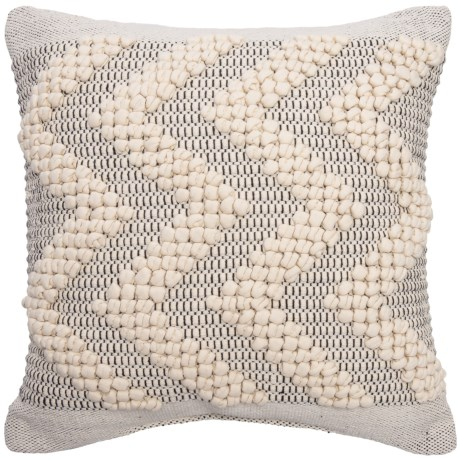 "Devi Ernesto Textured Chevron Throw Pillow - 20x20"" in Nat Black"