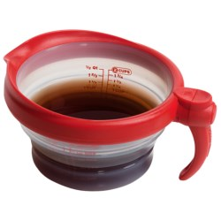Dexas 2-Cup Silicone Measuring Cup - Collapsible in Red
