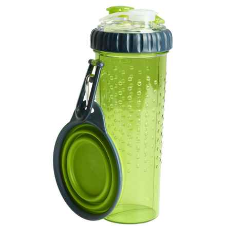Dexas H-Duo Pet Bottle - Two 12 fl.oz. Chambers in Green - Closeouts