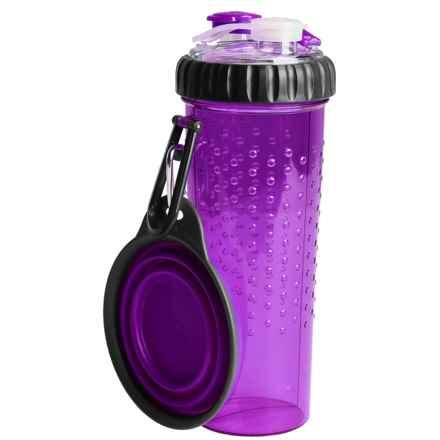 Dexas H-Duo Pet Bottle - Two 12 fl.oz. Chambers in Purple - Closeouts
