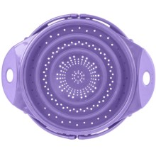 "Dexas Popware 10"" Colander - 2.5 qt., Collapsible in Purple - Overstock"