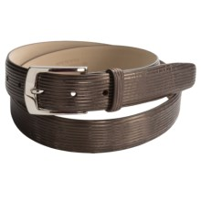 Di Stefano Striped Calfskin Belt (For Men) in Brown - Closeouts