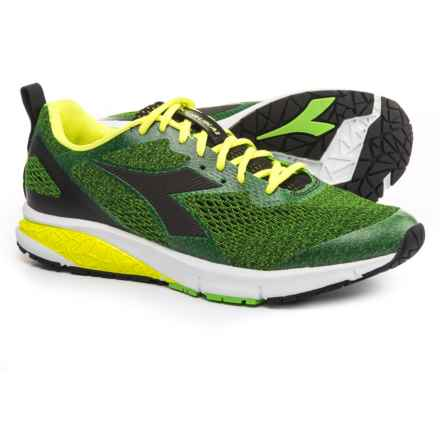 Diadora 2 Running Shoes (For Men) in Green Fluo/Black - Closeouts