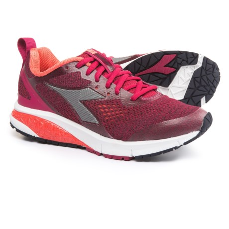 Diadora Kuruka 2 Running Shoes (For Women) in Sangria/Silver