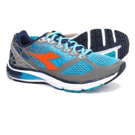Diadora Mythos Blushield® Bright Running Shoes (For Men) in Fluo Cyan Blue/Fluo Orange - Closeouts