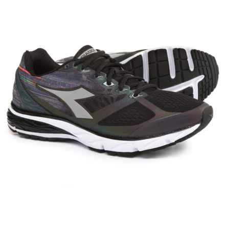 Diadora Mythos Blushield® Hip Running Shoes (For Men) in Black/Black/White - Closeouts