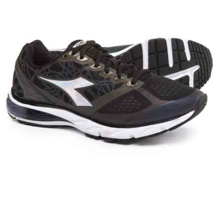 Diadora Mythos Blushield® Hip Running Shoes (For Men) in Black /Black - Closeouts