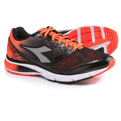 Diadora Mythos Blushield® Running Shoes (For Men) in Black/Fluo Orange