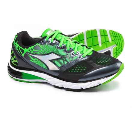 Diadora Mythos Blushield® Running Shoes (For Men) in Black/Green Fluo - Closeouts