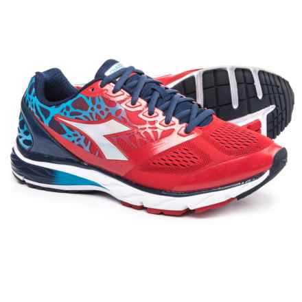 Diadora Mythos Blushield® Running Shoes (For Men) in Ferrari Red/Blue Dark Denim - Closeouts