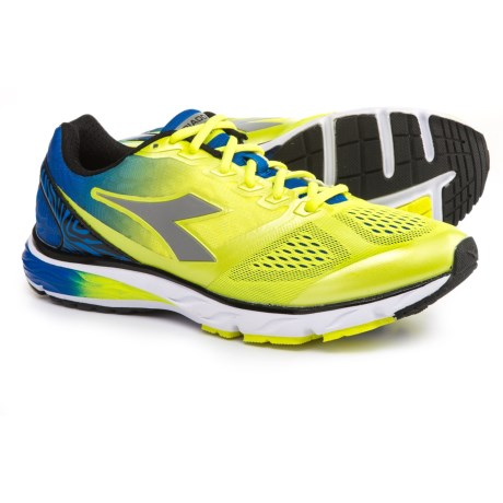 Diadora Mythos Blushield® Running Shoes (For Men) in Fluo Yellow/Royal