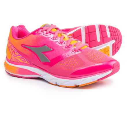 Diadora Mythos Blushield Running Shoes (For Women) in Fluo Pink/Fluo Orange - Closeouts