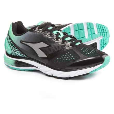 Diadora Mythos Blushield Running Shoes (For Women) in Teal/Black - Closeouts