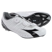 Diadora Speed-Vortex Road Cycling Shoes - 3-Hole (For Men) in White/Black - Closeouts