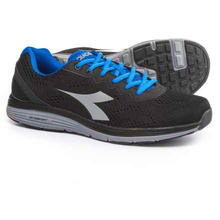 Diadora Swan 2 Running Shoes (For Men) in Black/Gray - Closeouts