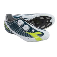 Diadora Vortex-Pro Movistar Road Cycling Shoes - 3-Hole (For Men) in Gray/Green - Closeouts