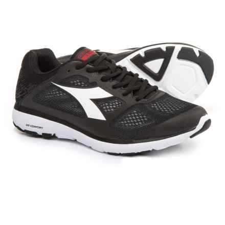 Diadora X Run Running Shoes (For Men) in Black/White Pristine - Closeouts