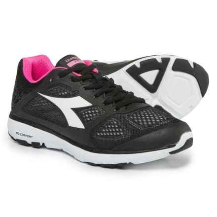 Diadora X Run Running Shoes (For Women) in C0003 Black/Superwhite - Closeouts
