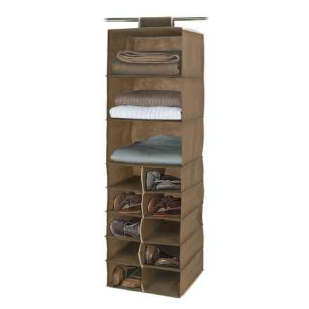 Diamond Home 13 Compartment Hanging Closet Organizer In Beige   Overstock
