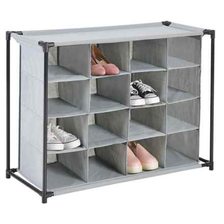 Diamond Home 16-Compartment Shoe Cubby in Grey - Closeouts