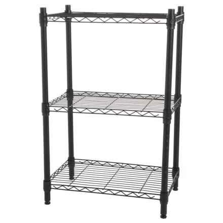 """Diamond Home 3-Tier Wire Shelf - 32x21"""" in Black - Closeouts"""