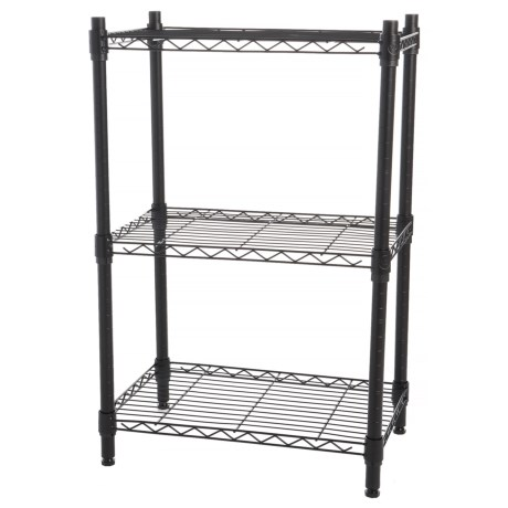 "Diamond Home 3-Tier Wire Shelf - 32x21"" in Black"