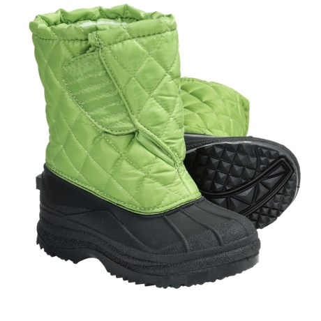Diamond-Quilted Snow Boots (For Kids and Youth) in Acre/Black