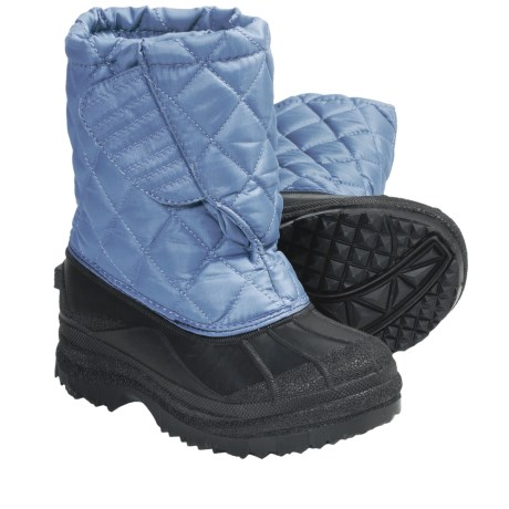 Diamond-Quilted Snow Boots (For Kids and Youth) in Lake/Black