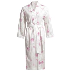 Diamond Tea Cotton Voile Robe (For Women) in Tulip