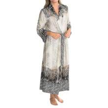 Diamond Tea Long Wrap Robe - Long Sleeve (For Women) in Fawn - Closeouts