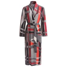 Diamond Tea Long Wrap Robe - Long Sleeve (For Women) in Fire - Closeouts