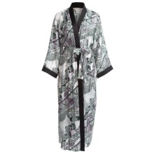 Diamond Tea Robe - Printed Wrap (For Women) in Lavender - Closeouts