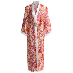 Diamond Tea Robe - Printed Wrap (For Women) in Bamboo