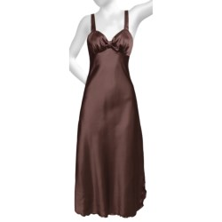 Diamond Tea Satin Nightgown - Sleeveless (For Women) in Royal