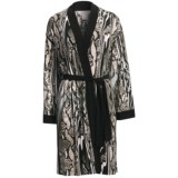 Diamond Tea Short Robe - Silky Print (For Women)