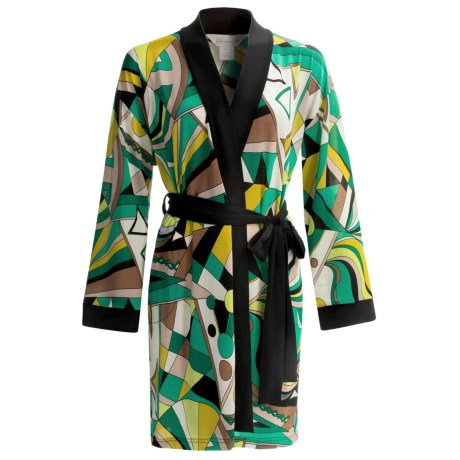 Diamond Tea Stretch Jersey Robe (For Women) in Kelley