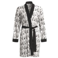 Diamond Tea Stretch Jersey Robe (For Women) in White - Closeouts