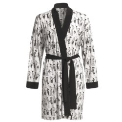 Diamond Tea Stretch Jersey Robe (For Women) in White