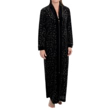 Diamond Tea Stretch Velvet Robe - Long Sleeve (For Women) in Black - Closeouts