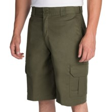 "Dickies 11"" Flex Cargo Shorts - Regular Fit (For Men) in Grape Leaf - Closeouts"