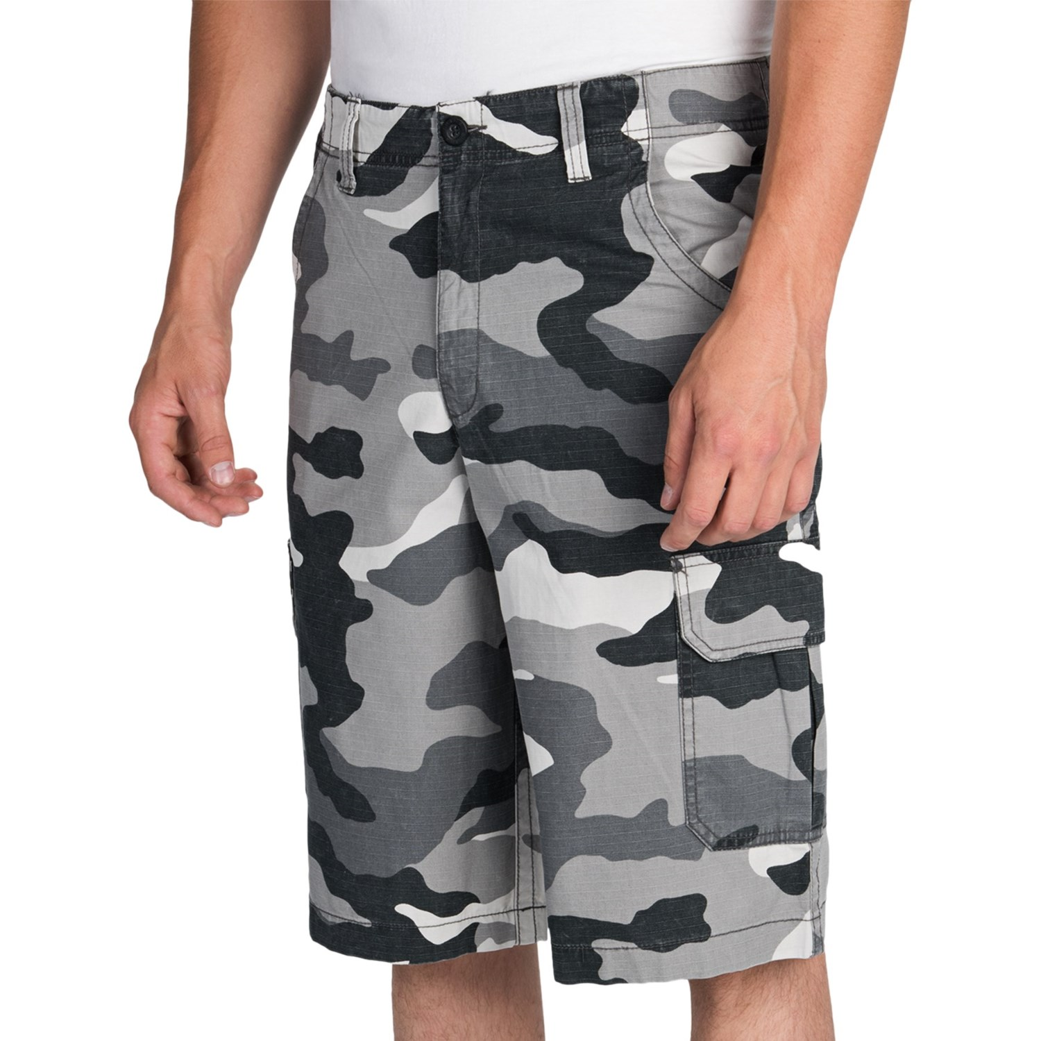 Mens Black Camo Shorts