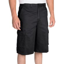"Dickies 13"" Relaxed Fit Cargo Shorts - Peached Twill (For Men) in Stonewashed Black - Closeouts"