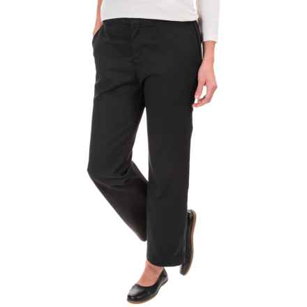 Dickies Ankle Pants - Original Fit (For Women) in Rinsed Black - Closeouts