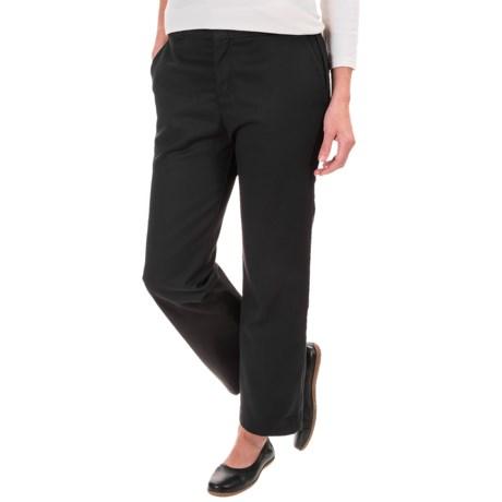 Dickies Ankle Pants - Original Fit (For Women) in Rinsed Black