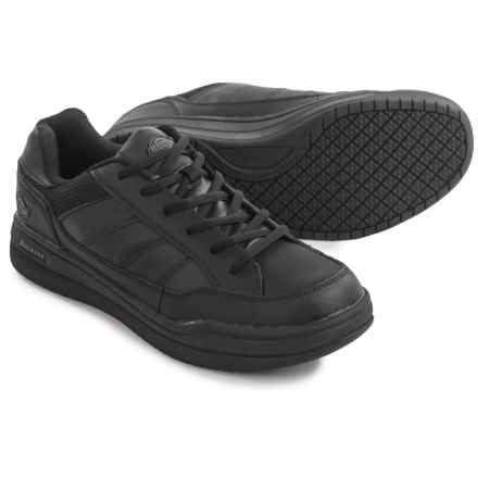 Dickies Athletic Skate Work Shoes - Slip Resistant, Leather (For Men) in Black - Closeouts
