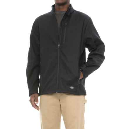 Dickies Bonded Canvas Soft Shell Jacket (For Men) in Black - Closeouts